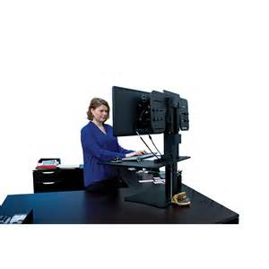 victor high rise dc350 outlet dual monitor sit stand desk