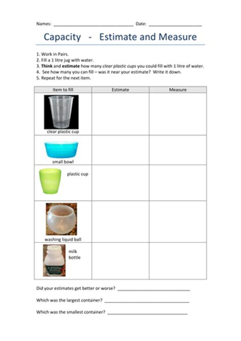 estimating capacity years 1 2 by pipsie teaching resources