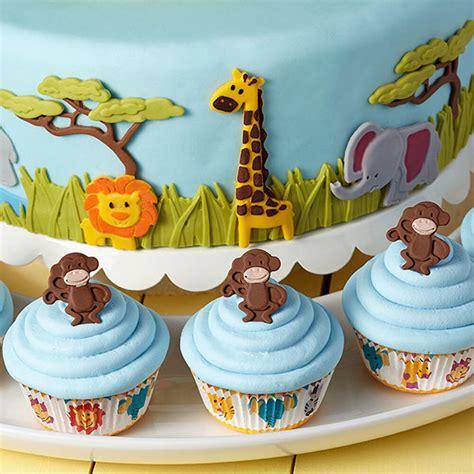 jungle cake animals wilton fondant animal cakes wild monkeys cupcakes birthday zoo jamboree safari cupcake mold parade baby wlproj paste