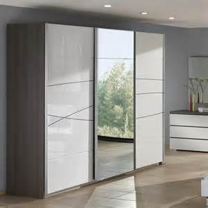 Armoires Blanches Portes Coulissantes by Armoire Design Blanche Et Chene Folgo Zd1 Arm A D 001 Jpg