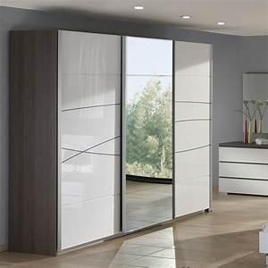 Armoire design porte coulissante for Porte de garage coulissante et porte chambre prix