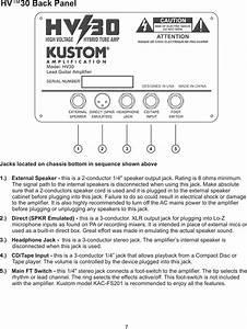 Kustom Hv 30 Users Manual Hv30 Owners 28jun2006