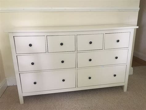 Ikea Hemnes Chest Of 8 Drawers, White, 160x95 Drawer Cover Pull 6 Computer Single Drawers Jewellery Art Supports