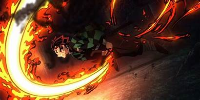 Slayer Demon Yaiba Kimetsu Tanjiro Rui Fuego