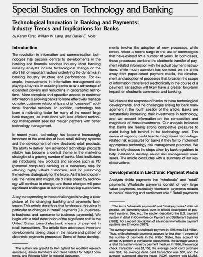 contoh jurnal teknologi dan perbankan dalam bahasa inggris