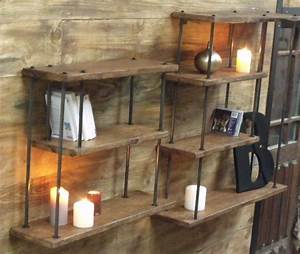 Petite étagère murale bois métal - MICHELI Design