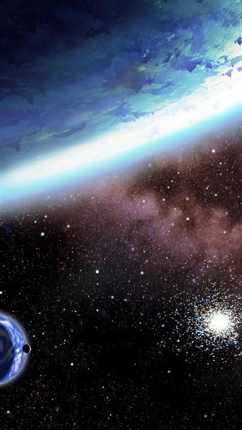 wallpaper planet stars galaxy  space