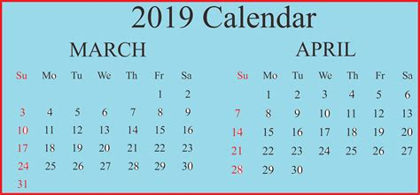 editable march calendar printable word excel