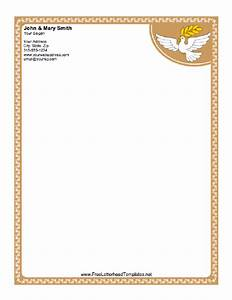 Dove letterhead for Christian letterhead templates free