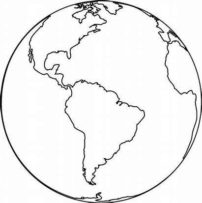 Coloring Globe Earth Printable Pages Clipartpanda Map