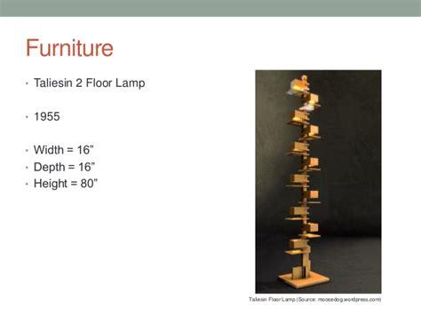 Frank Lloyd Wright Floor Lamp by Frank Lloyd Wright Presentation
