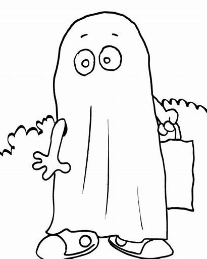 Ghost Coloring Halloween Pages Printables Printable Cartoon