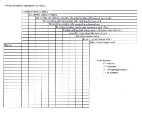 17 best ideas about kindergarten checklist on 673 | caa831d9a52abfb0ce0e2b04af93373a