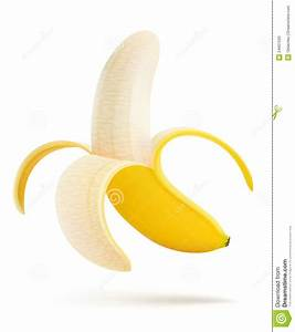 Half Peeled Banana Stock Photos - Image: 24661593