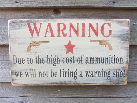 Primitive Sign Rustic Garden Decor Warning