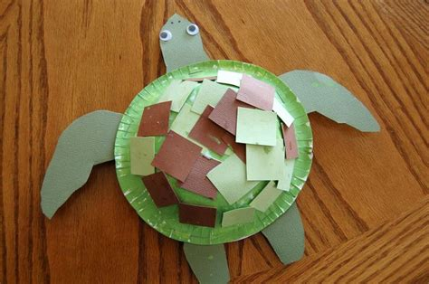 sea turtle craft crafting and preschool 596 | f6a45c6da83228152851ae508ccc7393