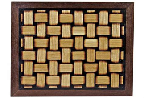 hand  basket weave veneer wood magazine