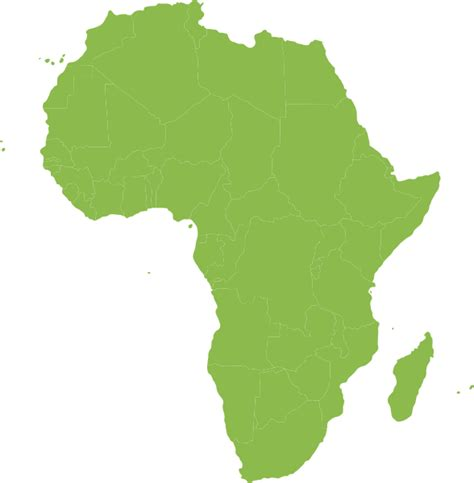 African Continent Green Clip Art at Clker.com - vector ...