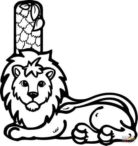 L Kleurplaat by Letter L Is For Coloring Page Free Printable