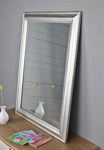 Spiegel Flur Groß : spiegel silber 82 x 62cm holz neu wandspiegel schlicht badspiegel standspiegel ebay ~ Whattoseeinmadrid.com Haus und Dekorationen