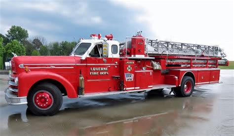 Fire Truck Photo Of The Day-antique Seagrave Midmount Ladder Truck Antique Bust Dishes L J G Stickley Furniture Fold Down Secretary Desk Oak Mount Vernon Center Richmond Highway Alexandria Va With Front Chinese Dealers