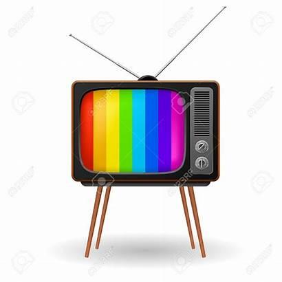 Tv Clipart Retro Frame Broadcast Vector Background
