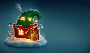 Wallpaper Christmas, New Year, 2017, fairy house, Holidays ...