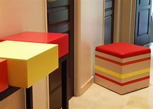 Pouf Sur Pied : la ligne de chaises design mobilier les pieds sur la table ~ Teatrodelosmanantiales.com Idées de Décoration