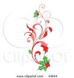 Elegant Christmas Scroll Clip Art