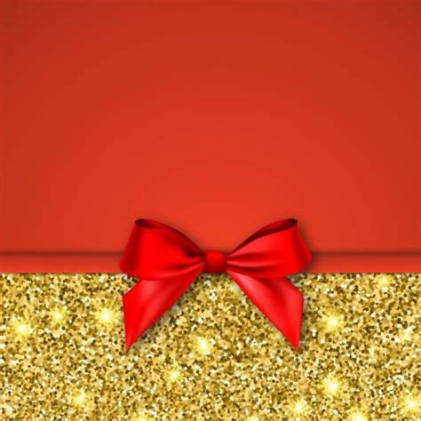 gold  red background  bow vector
