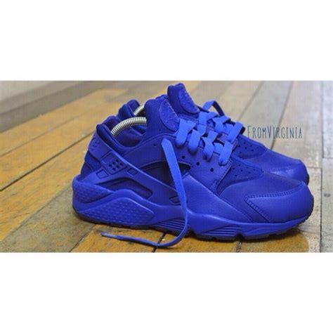 All Blue Nike Huarache Shoes