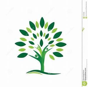 teamwork-people-tree-logo-creative-design-background ...