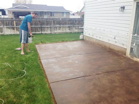 best 25 concrete patio stain ideas on outdoor