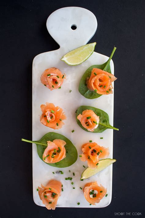 easy smoked salmon canapes smoked salmon flower canapés shoot the cook food