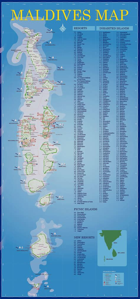 maps  maldives detailed map  maldives  english