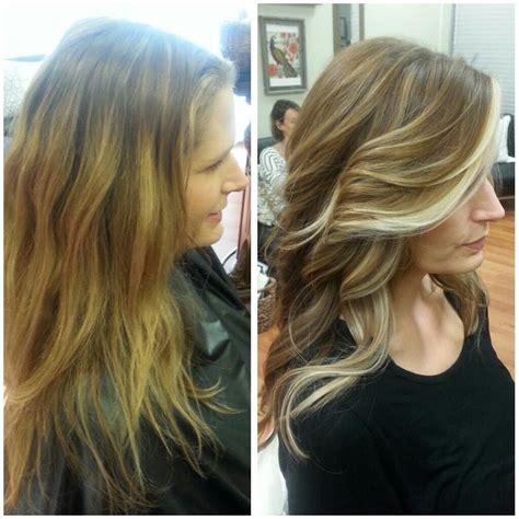 poise salon brown hair  blonde highlights hair  bronde hair