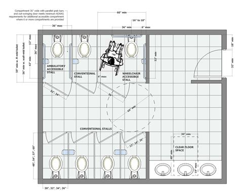 apron front sink bath shower house plan handicap bathroom