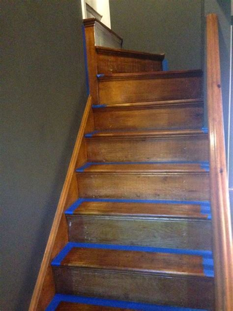 refinish  staircase    frugalwoods