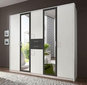 Kleiderschrank Mit Schubladen : zweifarbiger kleiderschrank mit schubladen spiegel belcastro ~ Sanjose-hotels-ca.com Haus und Dekorationen