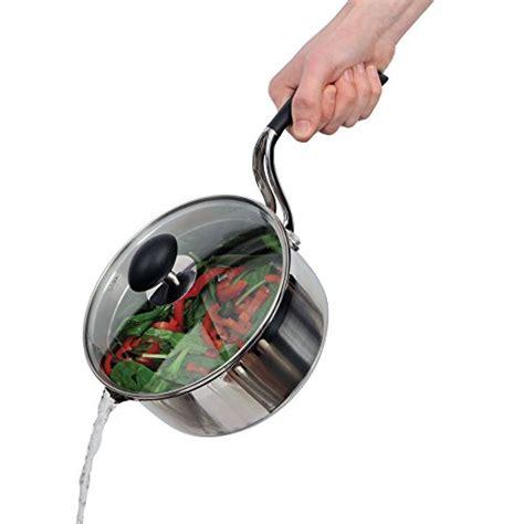 lightweight elderly seniors cookware arthritis saucepan qt lid covered stick stainless non steel