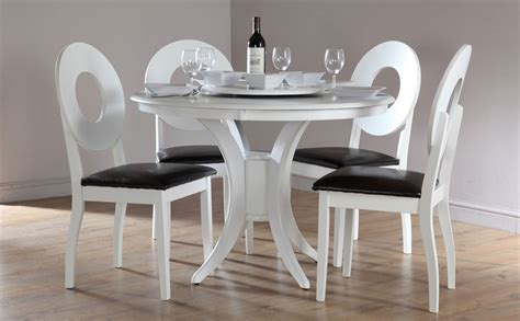 round dining table set for 4 48 white dining table sets palisade country style cherry