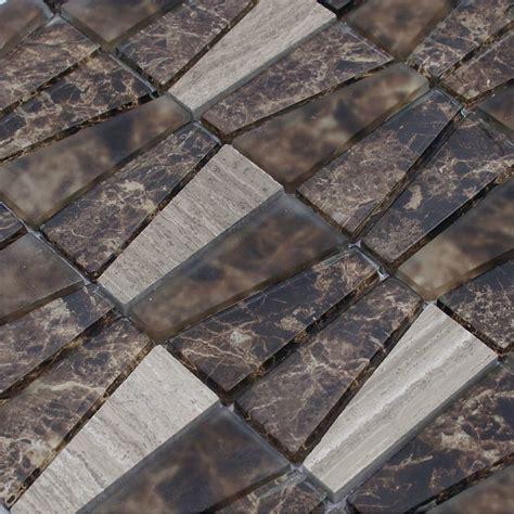 Grey Stone Marble Mosaic Tile Glass Wall Tiles Mosaic