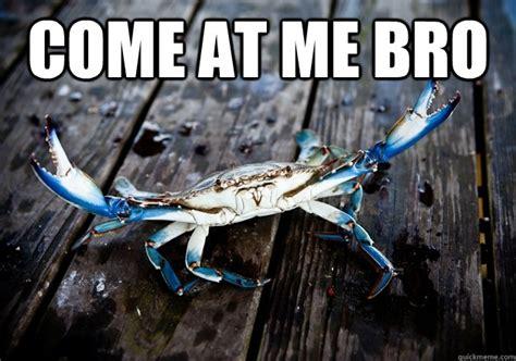 Crab Meme - come at me bro blue crab quickmeme