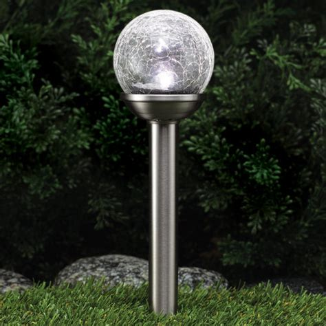 westinghouse crackle solar path light stainless steel 4 02