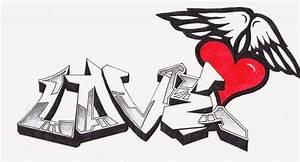 Imágenes de Graffitis de Amor a Lápiz Arte con Graffiti