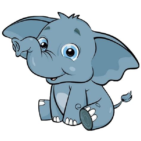 baby elephant cartoon pictures clipartsco