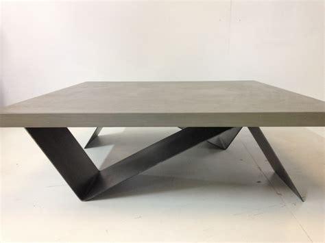 table basse bois beton cire ezooq
