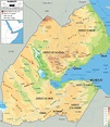Physical Map of Djibouti - Ezilon Maps