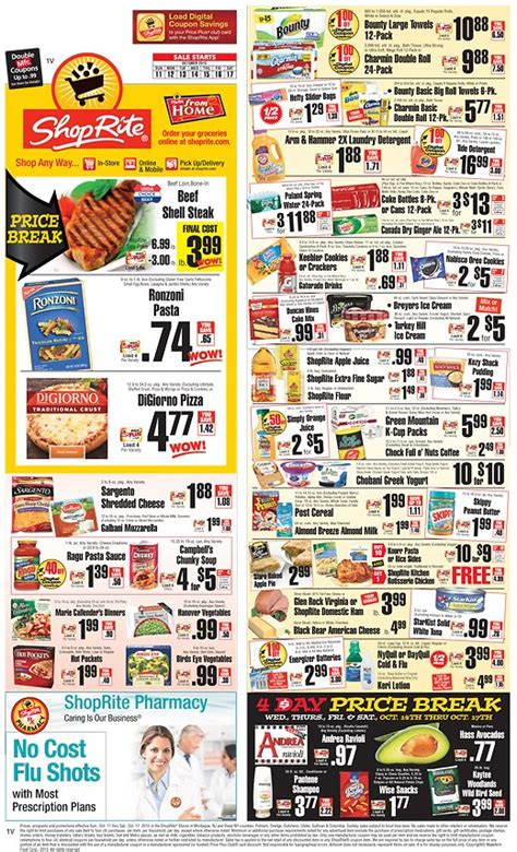 Office Depot Coupons Oct 2015 by Shoprite Weekly Ad Oct 11 17 Shoprite