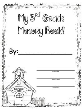 3rd grade memory book end of the year by pickich
